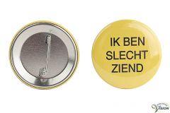 """Button """"IK BEN SLECHTZIEND"""", per 2 stuks"""