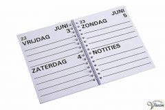 Agenda 2022 grootletterschrift formaat A5.