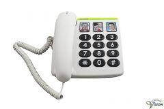 Doro PhoneEasy 331PH big button telefoon, 3 fototoetsen voor directe geheugens.