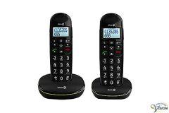 Doro PhoneEasy 110 duoset draadloze dect telefoons met Nederlandssprekende toetsen.