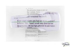 LHP dictionaire T4 bladzijdeloep met groene geleidelijn vergroot 4.25 maal