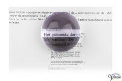 Coil visoletloep VTM 5850/02 dia. 50 mm, vergroot 1.7 maal voor dyslexie