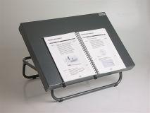 Opzettafel (nu 25% korting ) van aluminium, blad van 60 x 42 cm, werkhoogte 16.5 cm.