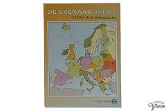 Evenaar atlas met Europese landen