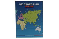 Grote Lijn atlas van Nederland met provincies, Europa en overige werelddelen