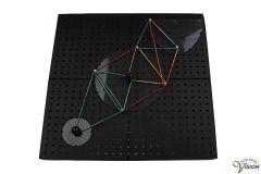 Geo-bord voor het maken van voelbare geometrische figuren en grafieken