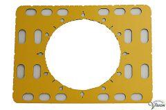 TactiPad CircleFrame met tekenaccessoires en elastieken.