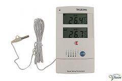 Thermometer en klok, Engelssprekend voor binnens- en buitenshuis