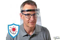 Schweizer beschermkap voor het gezicht met verstelbare hoofdband.