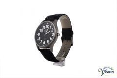 Gardé Jumbo XL horloge, mat titanium behuizing met zwarte wijzerplaat van 37 mm.