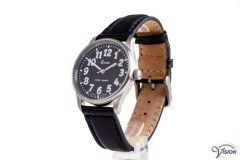 Gardé Jumbo unisex horloge, gepolijst stalen behuizing met zwarte wijzerplaat van 33 mm.