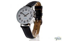 DianaTalks Prime Large, meertalig waaronder Nederlandssprekend 12/24 uurs herenhorloge met analoge witte wijzerplaat.