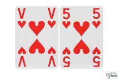 Speelkaarten SenseWorks zonder afbeeldingen en grote cijfers en letters, type extra visible.