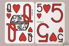 Speelkaarten geplastificeerd zonder afbeeldingen en grote cijfers en letters