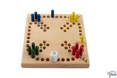 Mens-erger-je-niet, houten spel