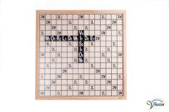 SenseWorks Scrabble-XL braille voor blinden en slechtzienden, bordmaat 60 x 60 cm.
