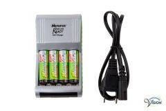 Batterijoplader met veiligheidstimer en druppellading
