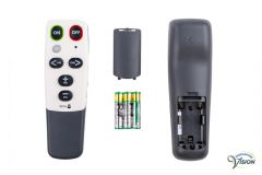 Doro HandleEasy 321RC universele afstandsbediening voor TV/DVD/VIDEO/AUDIO, kleur wit/grijs.