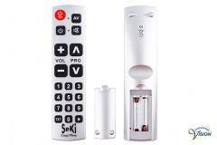 Seki Easy Plus universele afstandsbediening voor TV/teletekst, kleur zilver.